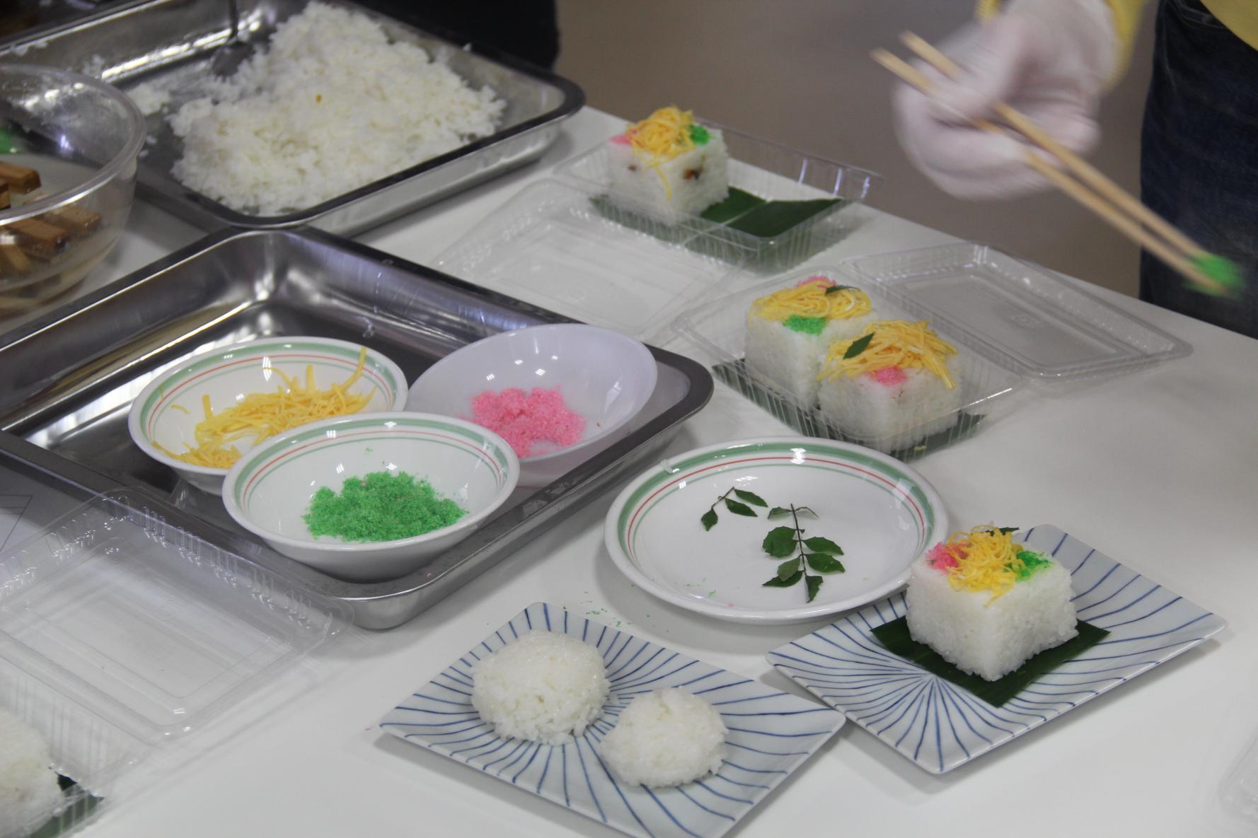押し寿司作り体験-2