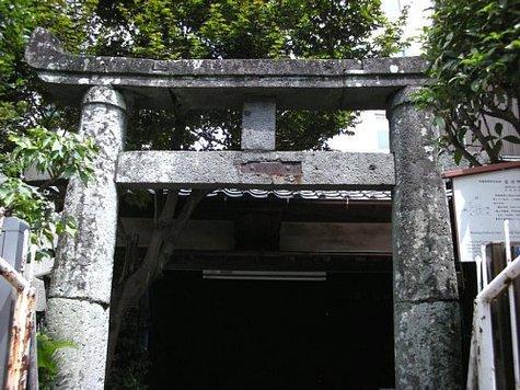 古川町天満宮の鳥居-1