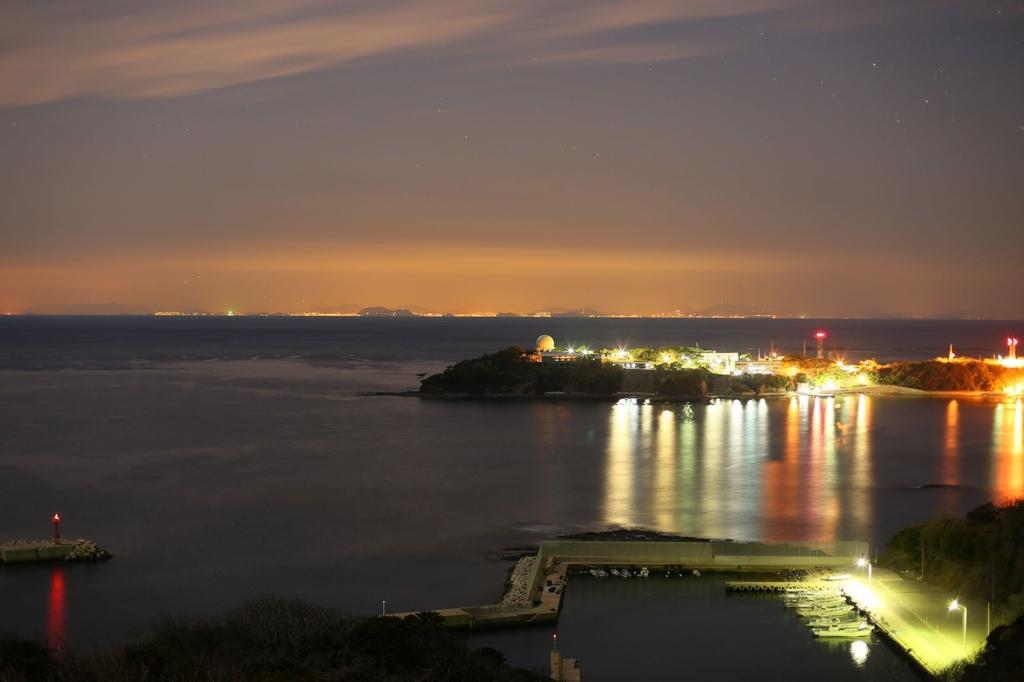 韓国展望所から見る釜山の夜景-1