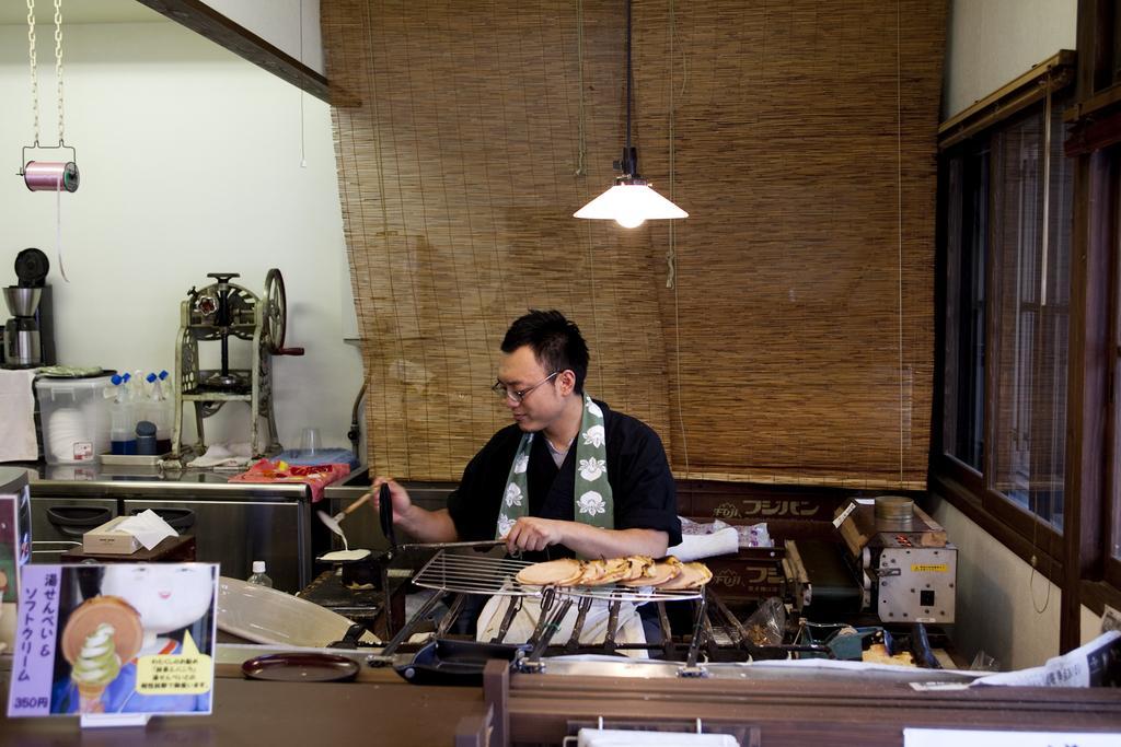 雲仙溫泉煎餅體驗-1