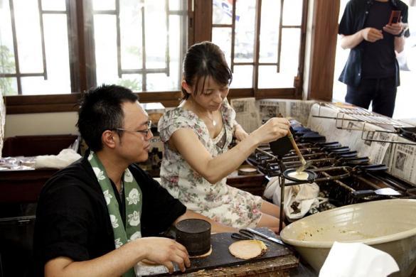 雲仙溫泉煎餅體驗-2