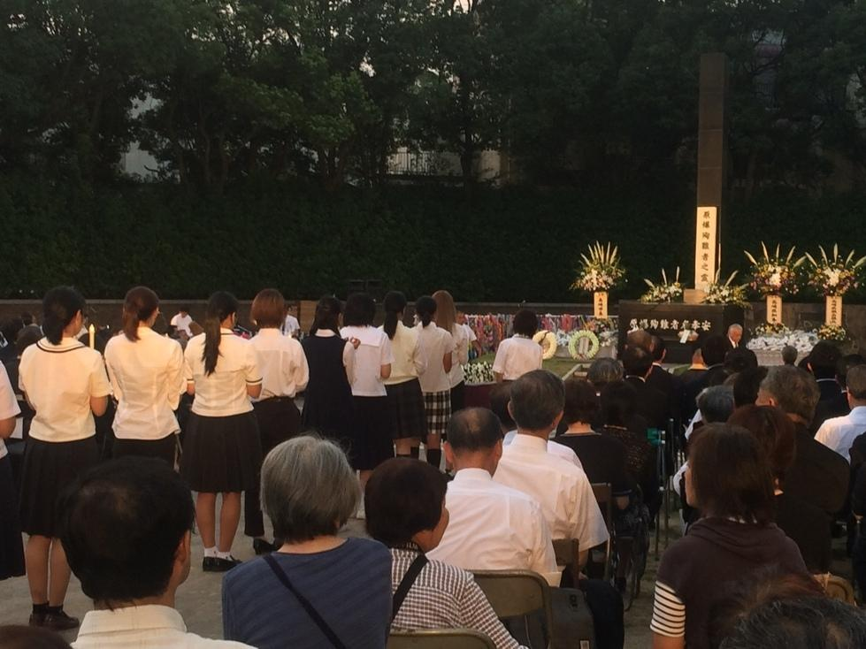 長崎原爆殉難者慰霊祭-2