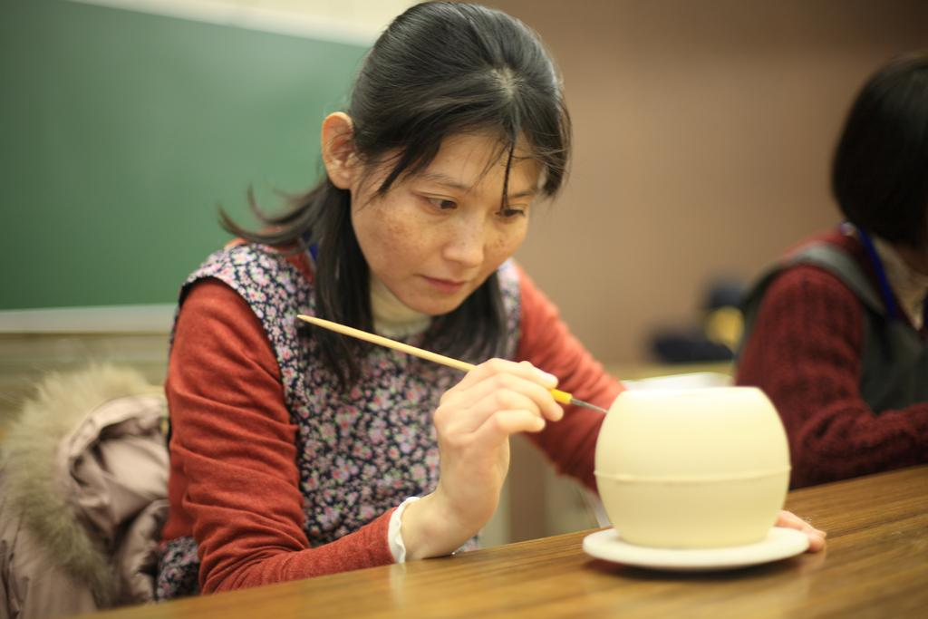 三川内焼透かし彫り体験-1