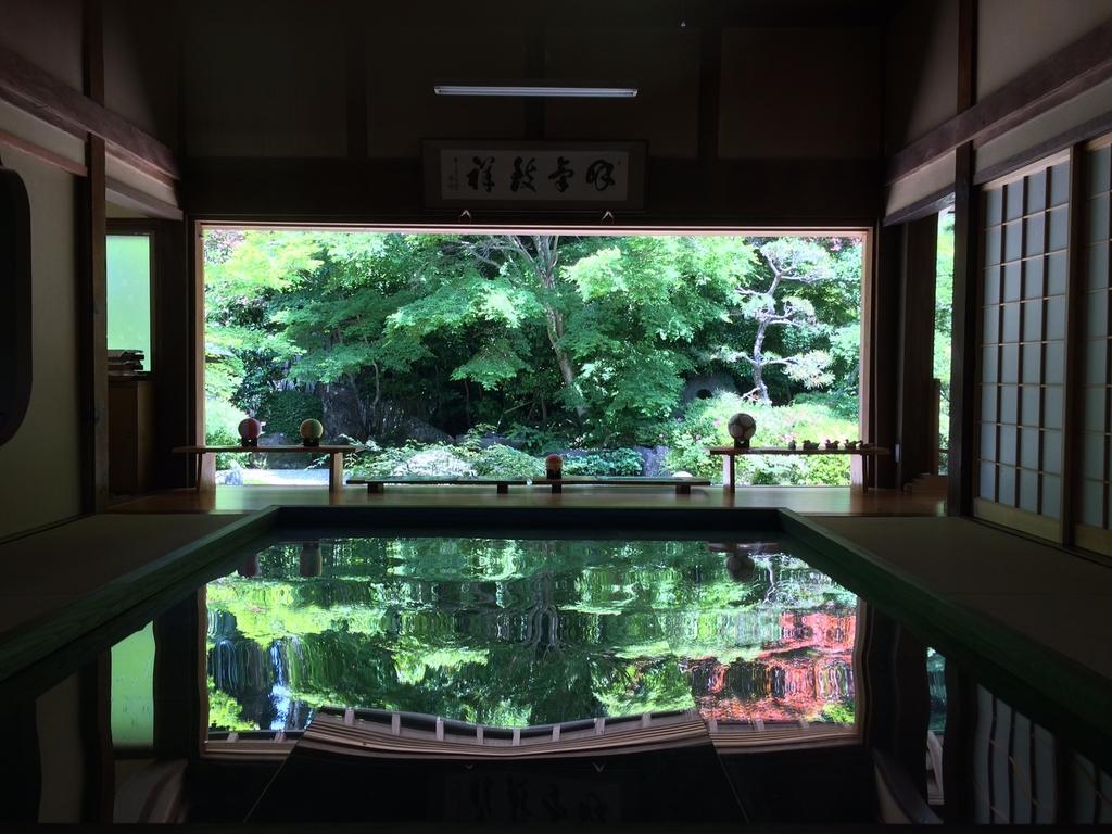 寿福寺「逆さ新緑」-1