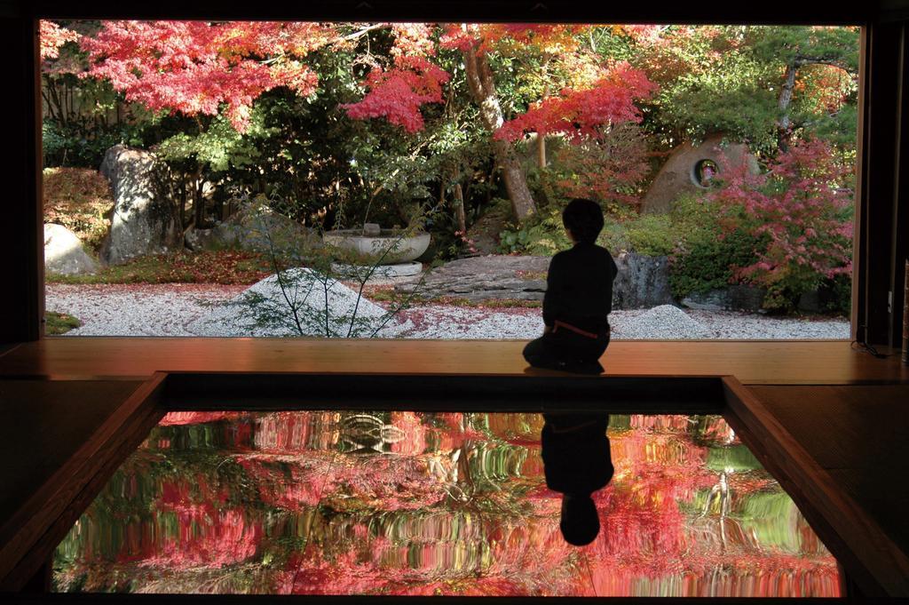 寿福寺「逆さ紅葉」-0