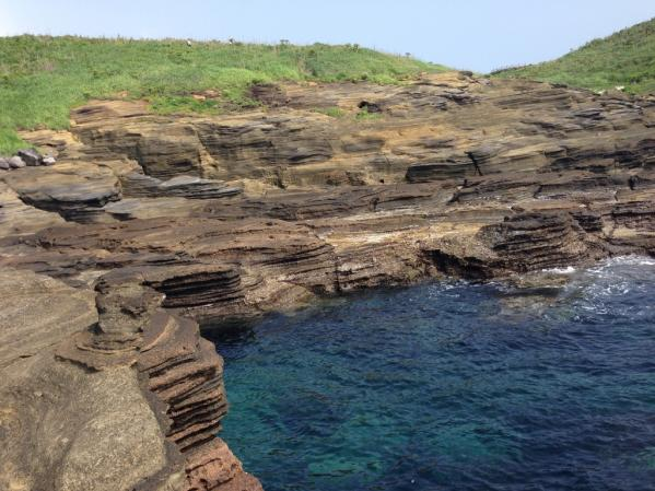 嵯峨島火山海食崖-4