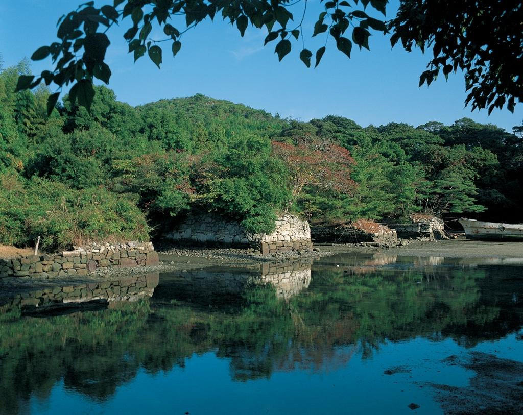 対馬藩お船江跡-1